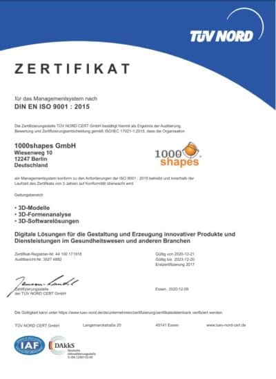 Quality: ISO 9001 certificate