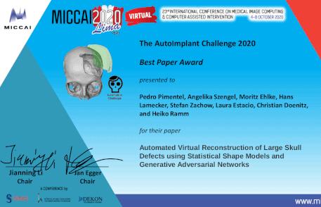 AutoImplant Cranial Implant Design Challenge Best Paper Award